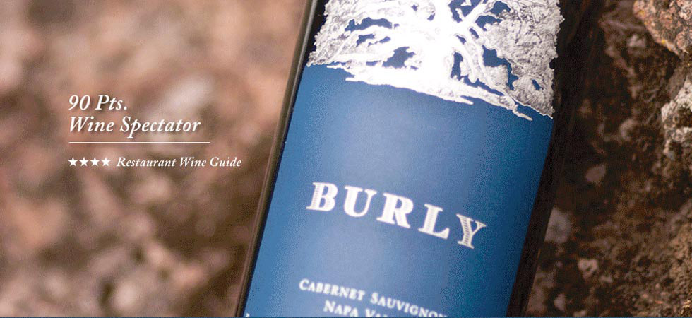 A bottle of Burly Wine Cabernet Sauvignon